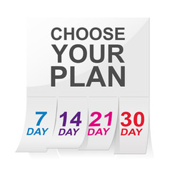 Choose your plan sign vector