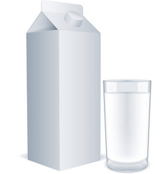 blank milk carton vector image