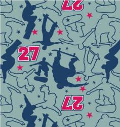 Skateboarder pattern vector