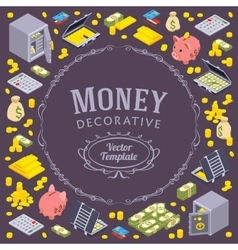 Decorating design made of objects related vector
