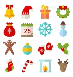 Christmas and winter traditional symbols vector