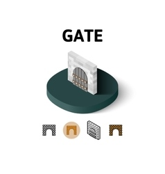 Gate icon in different style vector