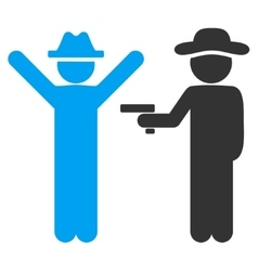 Person crime icon vector