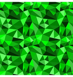 Seamless green abstract geometric rumpled pattern vector