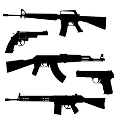 pistols and submachine guns vector image