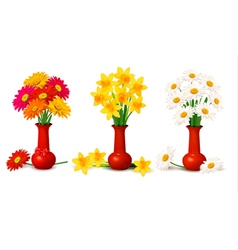 Spring colorful flowers vector