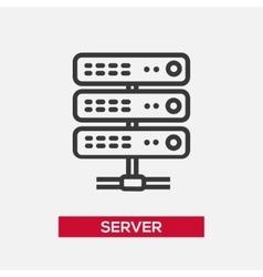 Server single icon vector