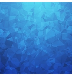 Abstract blue geometric triangular background vector image vector image