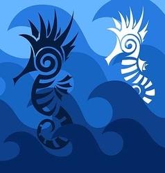 Abstract seahorses vector