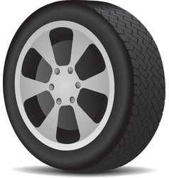 Auto wheel vector image vector image