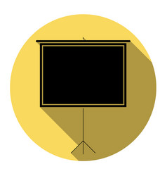 blank projection screen flat black icon vector image vector image