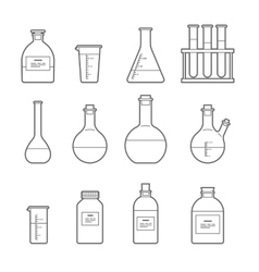 chemical glassware icon vector image vector image