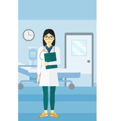 Doctor in hospital ward vector