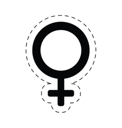 Female gender sex symbol cut line vector