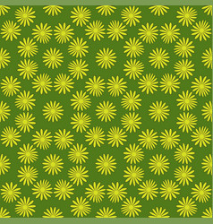 flower seamless pattern bright green colors vector image