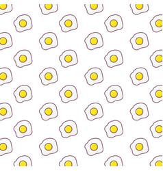 fried eggs background design vector image