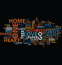 Frugal ways to show your love text background vector