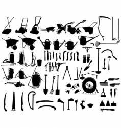 garden instruments vector image vector image