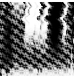Glitch background Halftone texture vector image vector image