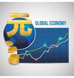 Global economy design money icon isolated vector image