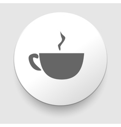 Hot coffee cup on saucer vector image vector image