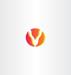 Letter v fire logo icon vector