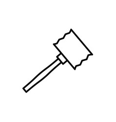 mallet icon vector image