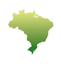 map of brazil landmark geography image vector image vector image