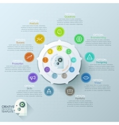 Modern infographics options banner with 8-options vector image