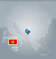 Montenegro information map vector