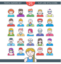 people avatars icons vector image vector image