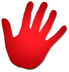 Red Five Hand vector image