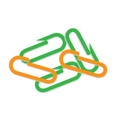 scattered colorful paper clips flat vector image