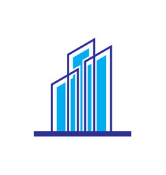skyscraper logo business logo vector image vector image