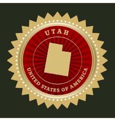 Star label Utah vector image vector image