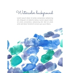 Watercolor spot background vector