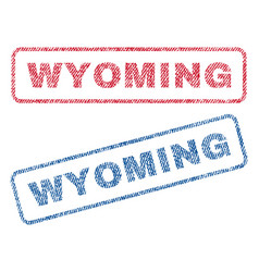 Wyoming textile stamps vector