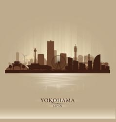 Yokohama japan city skyline silhouette vector