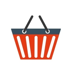 Shopping basket commerce market icon vector