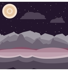 Purple and pink night landscape vector image