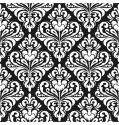 Damask wallpaper background vector