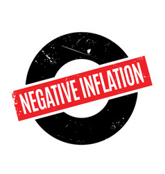Negative inflation rubber stamp vector