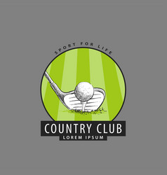 logo for the golf club vector image