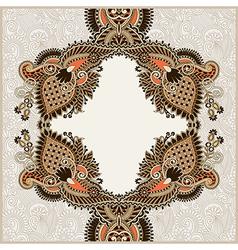 original ornamental floral vintage template vector image
