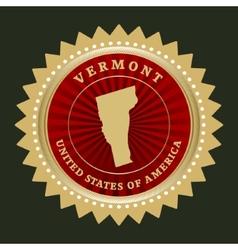 Star label Vermont vector image