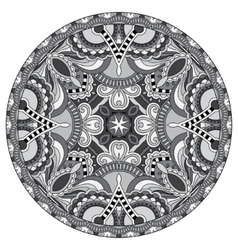 Circle lace ornament round grey ornamental vector