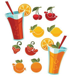 Juice and lemonade vector