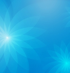 Abstract floral light blue background for design vector