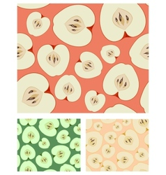 Apples seamless background vector