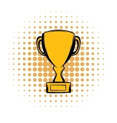 Prize cup comics icon vector